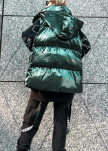 Load image into Gallery viewer, Fine green women parkas plus size winter hooded sleeveless coats