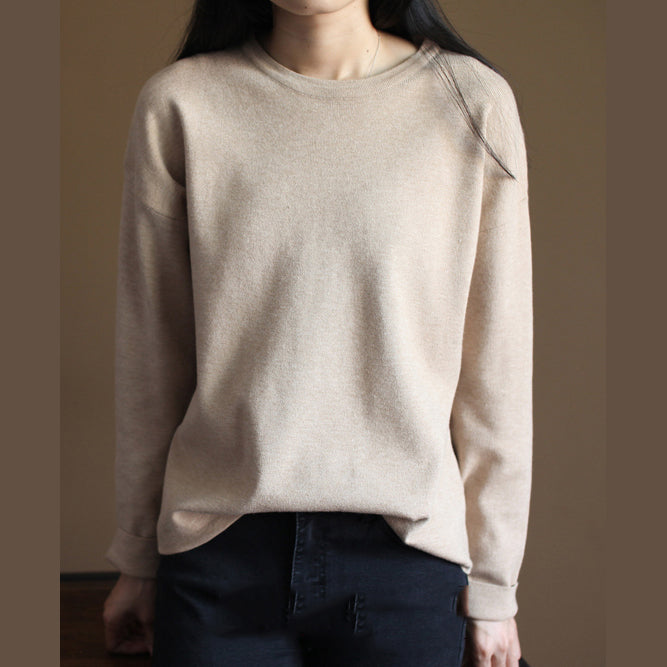 Fine nude knit sweaters casualsweaters new knit  top rabbit fur