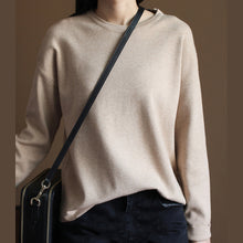 Load image into Gallery viewer, Fine nude knit sweaters casualsweaters new knit  top rabbit fur