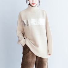 Load image into Gallery viewer, Fine nude warm sweaters oversized woman knit tops bust 180cm