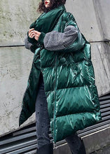 Load image into Gallery viewer, Fine oversize Jackets & Coats winter coats green thick high neck Parkas for women