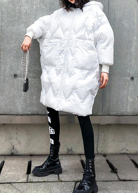 Fine oversized winter coats hooded zippered Parkas for women