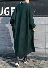 Load image into Gallery viewer, For Spring knit sweat tops fall fashion blackish green sweater coat