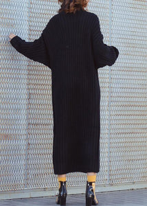 For Work high neck Sweater fall dresses Quotes black tunic knitwear