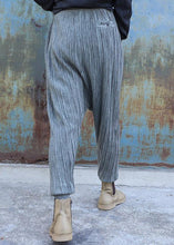 Load image into Gallery viewer, French elastic waist pants oversize gray pattern slim Jeans