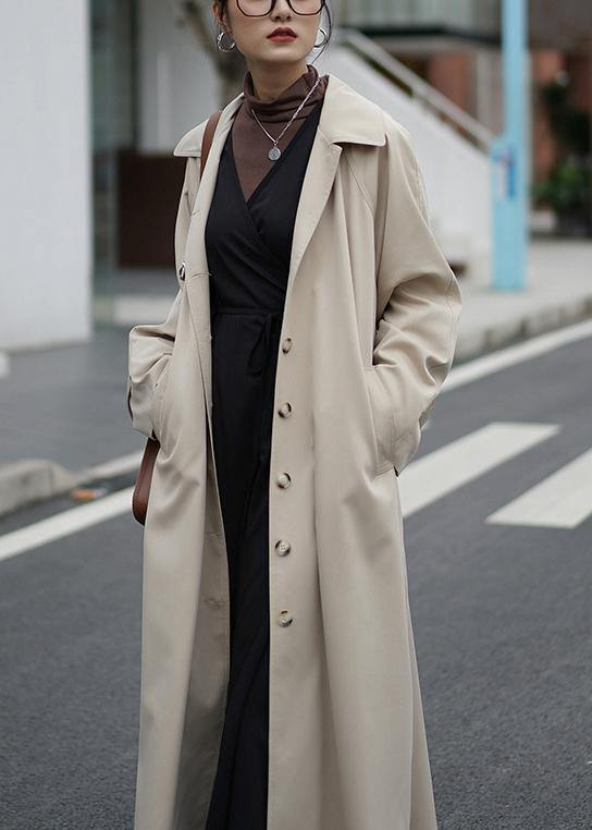 French nude Plus Size crane coats Fashion Ideas Notched pockets coats