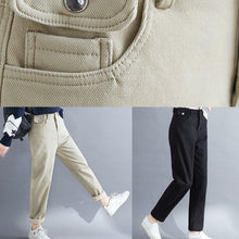 Load image into Gallery viewer, Handmade spring wild trousers oversize black Gifts pockets pants