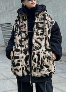 Jacket short heavy winter casual splicing letter tie dye Baseball Jacket