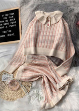 Load image into Gallery viewer, Korean version of short light purple sweater suit loose skirt two-piece suit