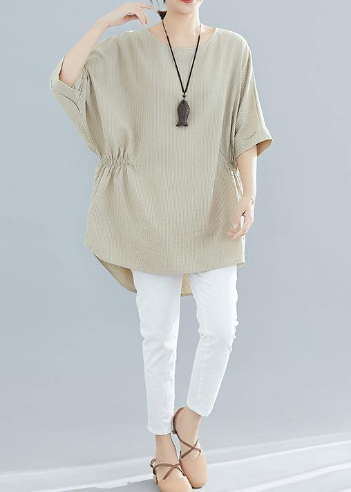 Loose Batwing Sleeve cotton Blouse Inspiration nude shirts summer
