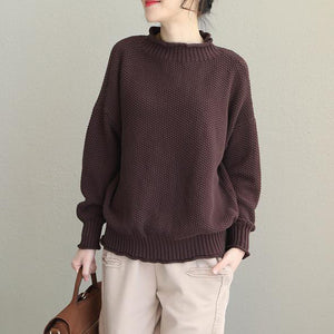 Loose Cotton Casual Sweater New Women Winter Tops