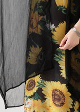 Load image into Gallery viewer, Loose floral cotton dresses false two pieces long summer Dresses