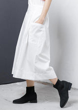 Load image into Gallery viewer, Loose linen clothes Pakistani Solid Elastic Waist Casual Wide Leg Pants