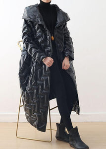 Luxury black warm warm winter coat plussize hoodeddown jacket GlossyNew coats