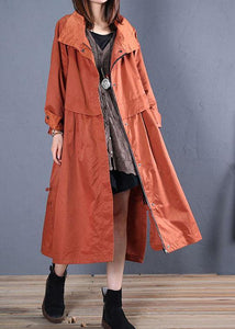 Luxury casual maxi coat fall coat red low high design outwear