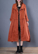 Load image into Gallery viewer, Luxury casual maxi coat fall coat red low high design outwear