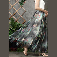 Load image into Gallery viewer, Modern big hem chiffon quilting clothes design black prints A Line Dresses summer