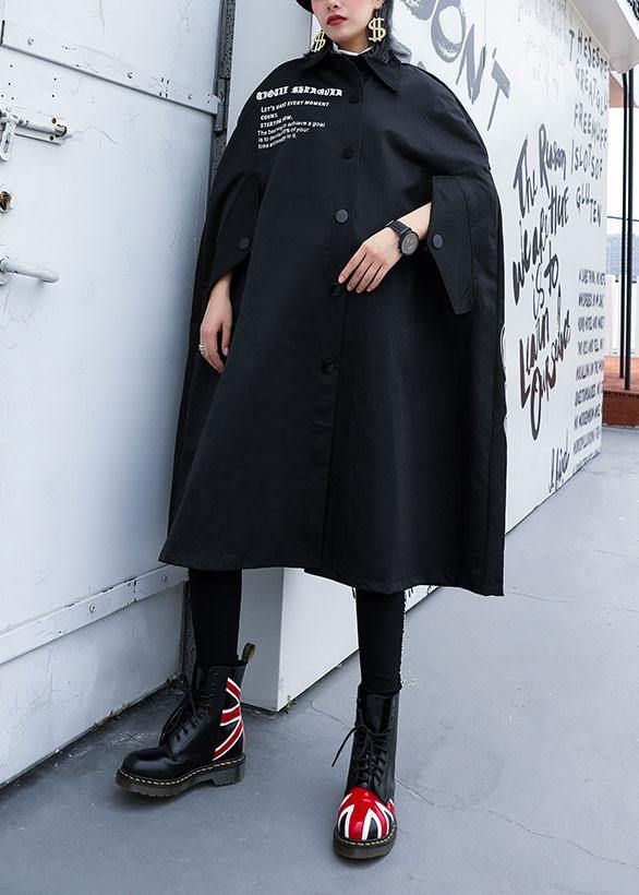 Modern black Plus Size Long coats design cloak fall coat