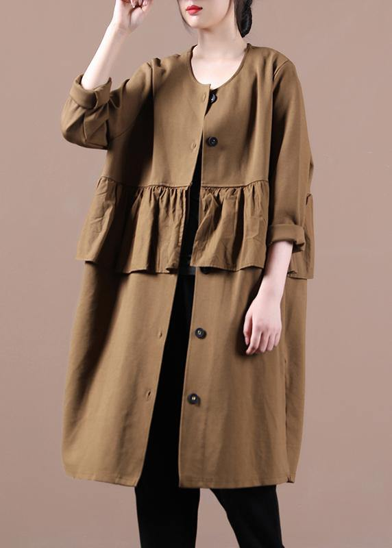 Modern chocolate  clothes For Women Tops o neck patchwork spring outwears