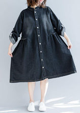 Load image into Gallery viewer, Modern striped collar top quality box coat black daily outwears fall