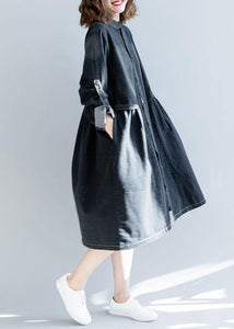 Modern striped collar top quality box coat black daily outwears fall