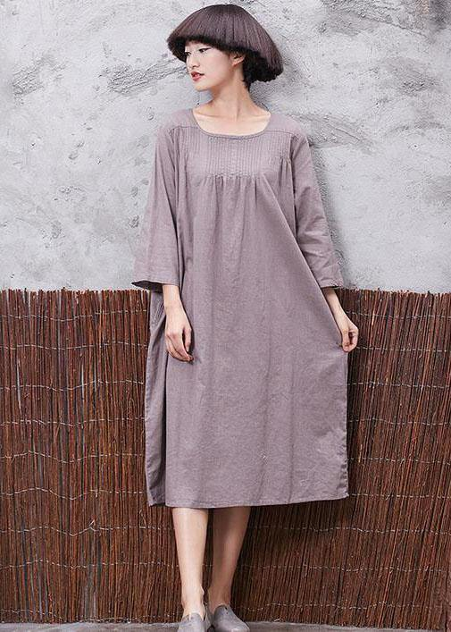 Modern wrinkled linen cotton clothes For Women Shirts khaki Dress summer