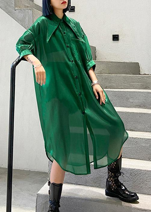 Natural half sleeve tulle Summer dresses plus size Fashion Ideas green Art Dresses