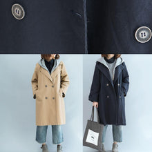 Load image into Gallery viewer, Natural khaki top quality trench coat Sleeve double breast fall jackets