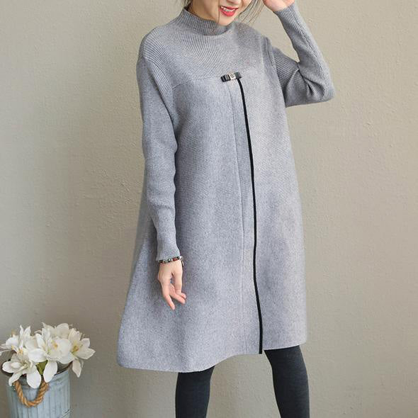 New Fashion Korea Style Loose Knitted Dresses For Women Soolinen