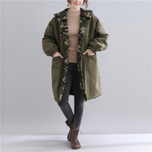 Load image into Gallery viewer, New army green parkas casual hooded jacket Fine pockets outwear