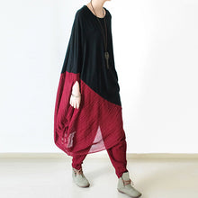 Load image into Gallery viewer, New burgundy loose cotton pants oversized harem pants trousers
