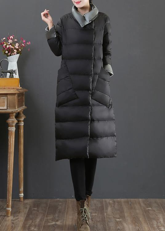 New clothing winter jacket coats silver gray stand collar pockets down jacket woman