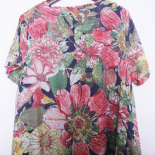 Load image into Gallery viewer, New floral long dresses casual Loose fitting short sleeve cotton clothing dresses vintage Chinese Button dresses