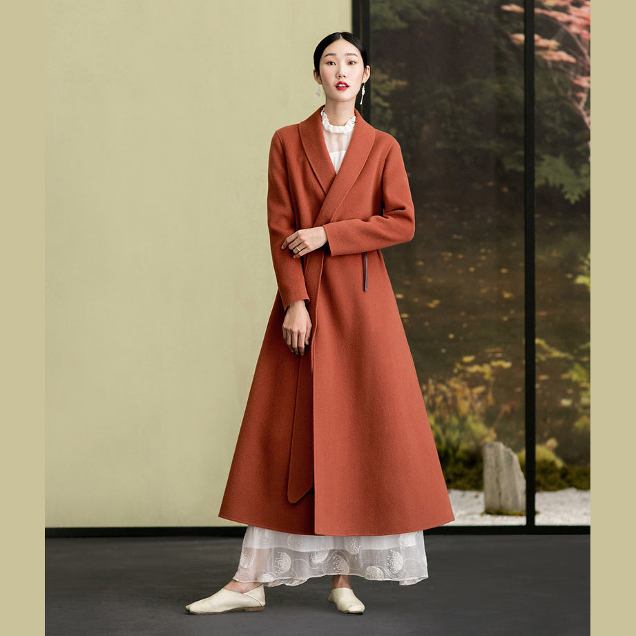 New long sleeve woolen outwear plus size Coats slim coat