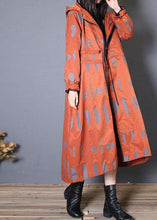 Load image into Gallery viewer, New oversized Jackets & Coats fall red prints hooded coat