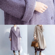 Load image into Gallery viewer, New plus size clothing Winter coat winter coat purple flare sleeve wool overcoat