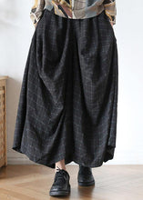Load image into Gallery viewer, New retro long section loose large size wild plaid irregular wide leg pants
