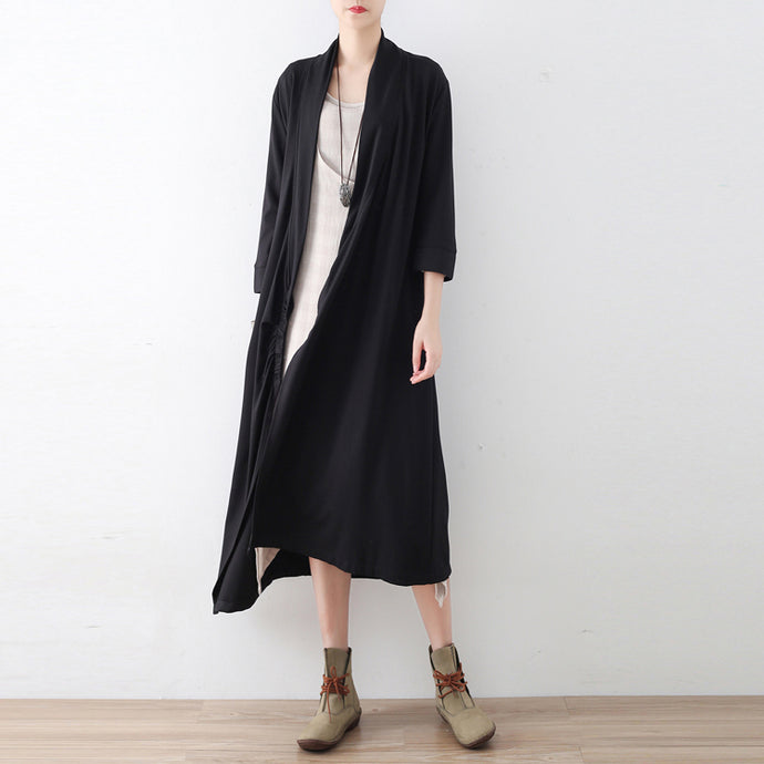 New side closure cotton cardigans long maxi coats causal clothing original