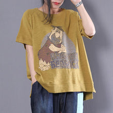 Load image into Gallery viewer, New summer t shirt plus size Cartoon Letter Printed Short Sleeve T-shirt Women Tops
