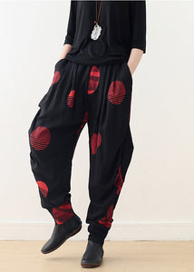 Organic harem pants cotton clothes Plus Size Shape red loose pants spring