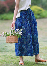 Load image into Gallery viewer, Original Xia Xin cotton and linen women's ramie printed wide-leg pants