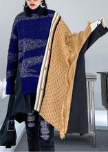 Load image into Gallery viewer, Pullover multicolor top o neck asymmetric oversize spring knitwear