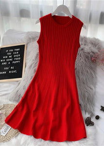 Pullover red Sweater weather DIY o neck sleeveless Funny fall sweater dresses