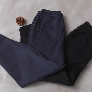 Simple navy winter Jeans slim thick elastic waist Inspiration women trousers