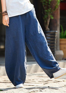 Spring cotton linen women retro ramie wild trousers women's bloomers