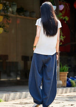 Load image into Gallery viewer, Spring cotton linen women retro ramie wild trousers women's bloomers