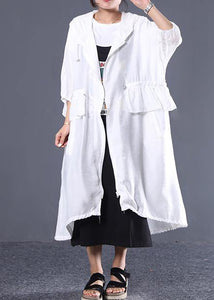 Style hooded drawstring top quality clothes For black women coats