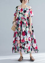 Load image into Gallery viewer, Style o neck cotton Tunic pattern floral Traveling Dresses summer