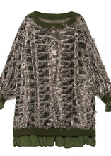 Load image into Gallery viewer, Style o neck tassel Ruffles fall Blouse Neckline gray tops