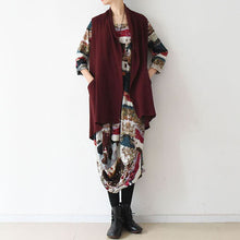 Load image into Gallery viewer, Stylish plus size linen vests causal cardigans linen clothing